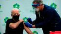 Biden urges mask wearing after receiving second vaccine dose