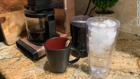 Drinking water while making coffee is a great way to build the habit of good hydration.