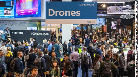 In January 2020, the CES conference is estimated to have drawn 170,000 attendees to Las Vegas and generated $ 169 million in direct expenses and a broader economic impact of $ 291.2 million.  (Mark Damon / Las Vegas News Bureau)