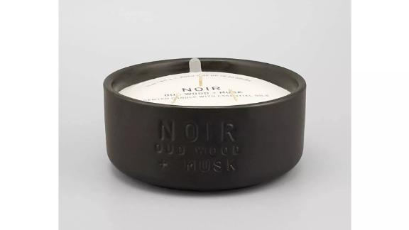 Project 62 Ceramic Jar Oud Wood & Must 3-Wick Candle Noir