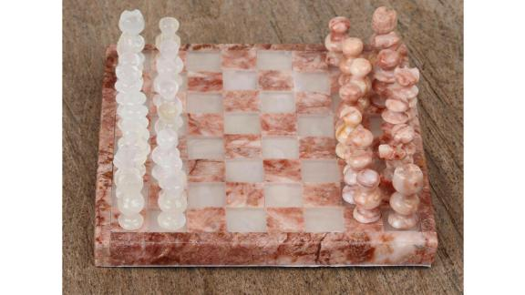 Arlmont & Co Yasmine Challenge Onyx and Marble Chess