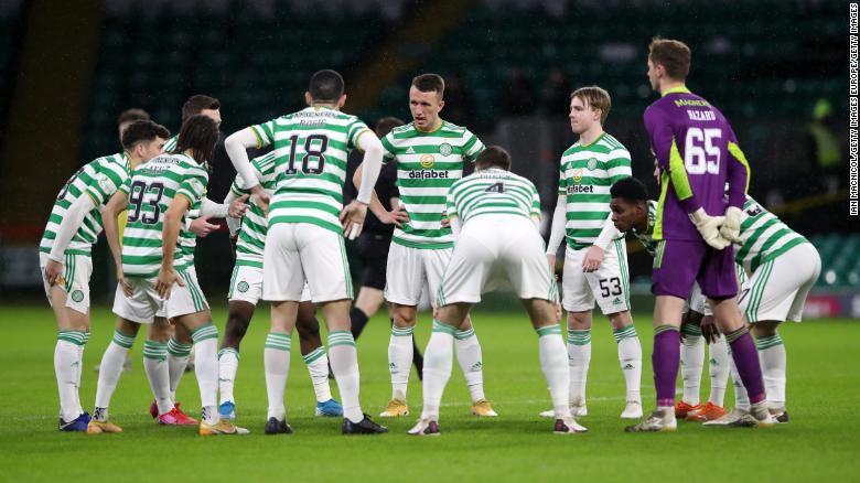 Celtic draws with Hibernian after 13 players forced to self-isolate
