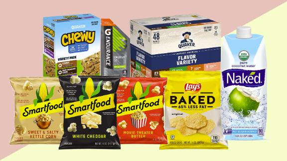 Snacks from Smartfood, Quaker and more
