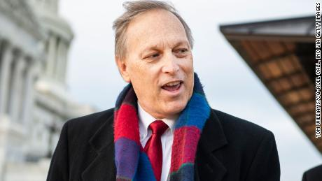 UNITED STATES - DECEMBER 3: Rep. Andy Biggs, R-Ariz., is seen after a news conference with members of the House Freedom Caucus to call on Attorney General William Barr to release findings of an investigation into allegations of 2020 election fraud, outside the Capitol on Thursday, December 3, 2020. (Photo CQ-Roll Call, Inc via Getty Images)