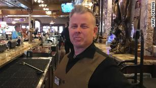 Brandon Geyer, a bartender in Las Vegas, said he's been unemployed since March.