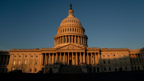 The US Capitol stands on January 13, 2021 in Washington, DC.