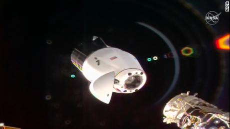 There's a case of wine heading back to Earth from space  - 210113114832 02 spacex dragon undocking iss 0112   screenshot large 169 - Previously unknown microbes discovered on International Space Station could help grow plants