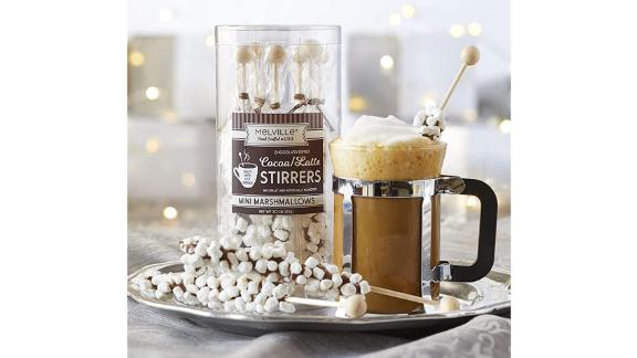 Melville Candy Store Gourmet Mini Marshmallow Chocolate Stirrers, 8-Pack