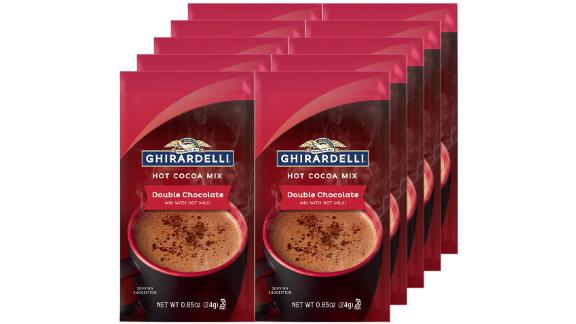Ghirardelli Double Chocolate Hot Cocoa Mix, 10-Pack