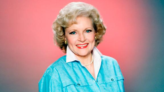 "Betty White poses for a portrait in the mid-1980s, when she starred in the hit sitcom ""The Golden Girls."""