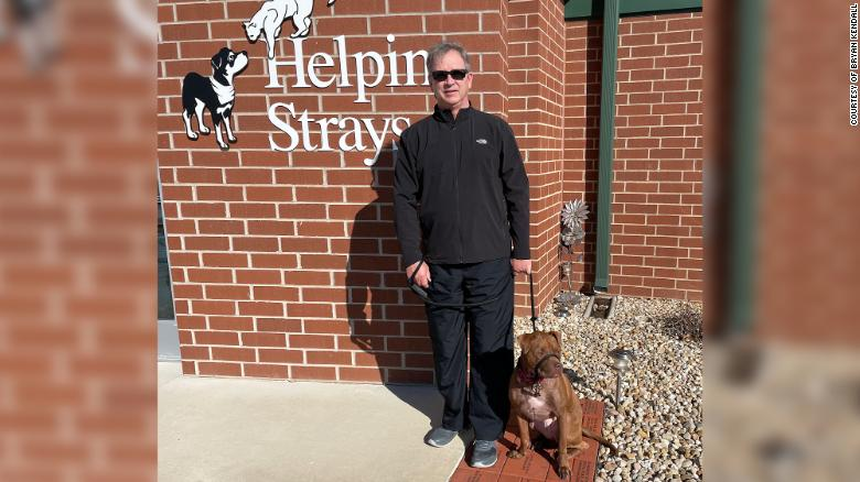 Bryan Kendall used some of his stimulus money to help staff at the animal shelter where he and his wife volunteer.