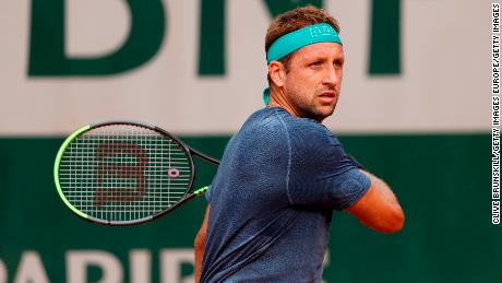 Tennys Sandgren said he tested positive for Covid-19 on Monday.