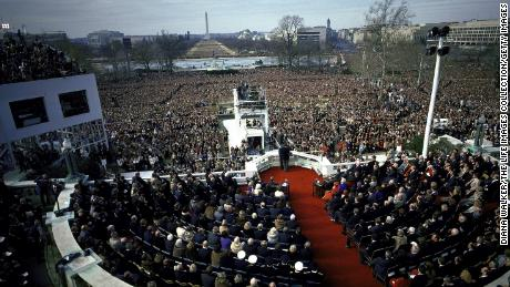 Overview of Ronald Reagan inauguration 1981.