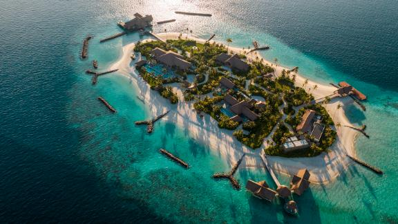 """<strong>Ithaafushi -- The Private Island:</strong> Waldorf Astoria Maldives Ithaafushi resort has just opened its new addition: """"Ithaafushi -- The Private Island."""" Spread over 32,000 square meters, it's being marketed as the largest private island in the Maldives and costs $80,000 per night to buy out."""
