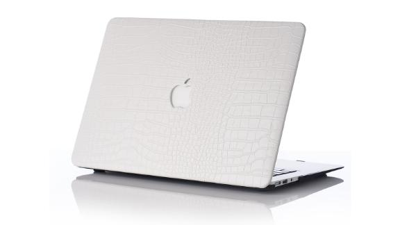 Snow Faux Crocodile MacBook Case