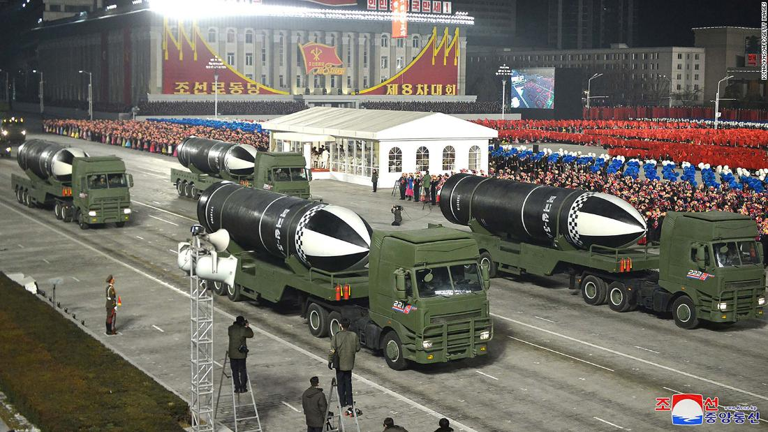 North Korea unveils submarine-launched ballistic missile at military parade