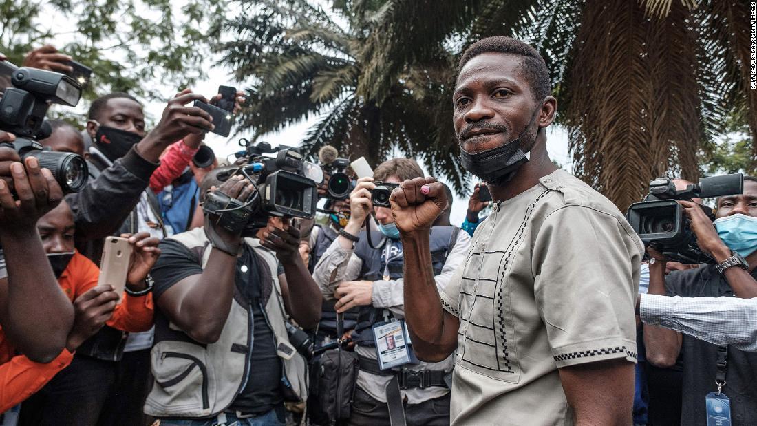 Ugandan presidential candidate Bobi Wine says his home is 'under siege'