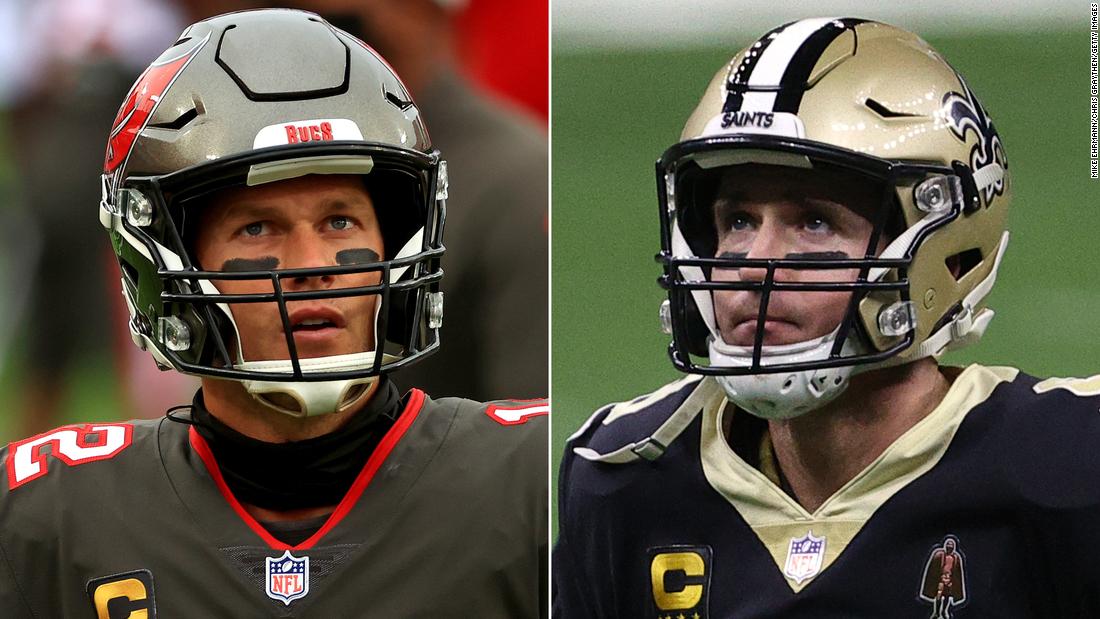 Clash of the quadragenarian quarterbacks: Tom Brady vs. Drew Brees
