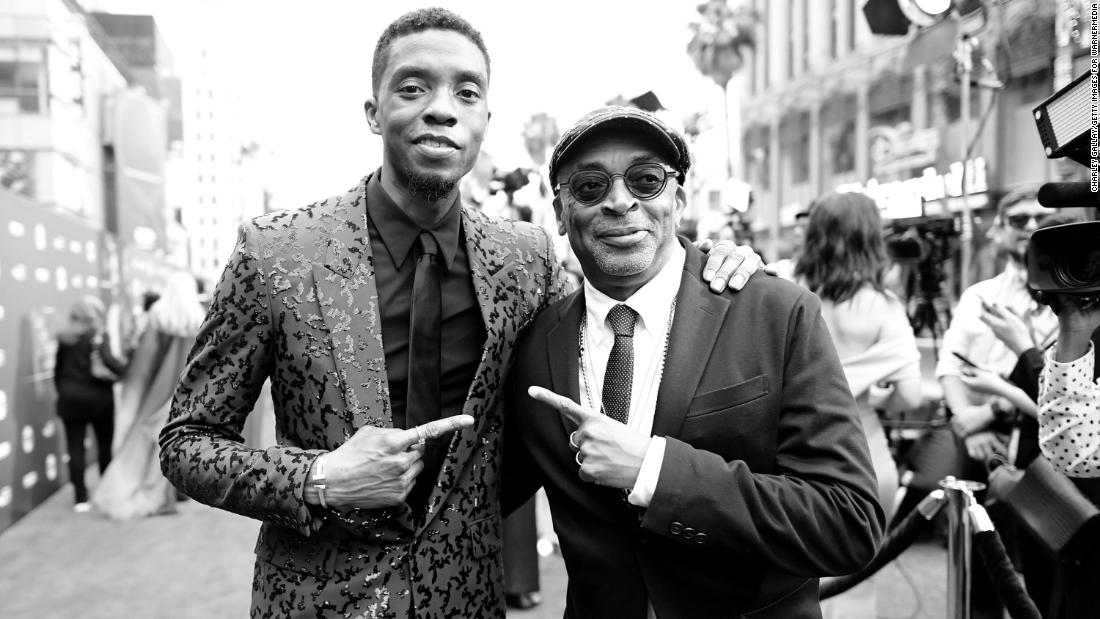 Spike Lee remembers Chadwick Boseman while accepting the American Cinematheque honor