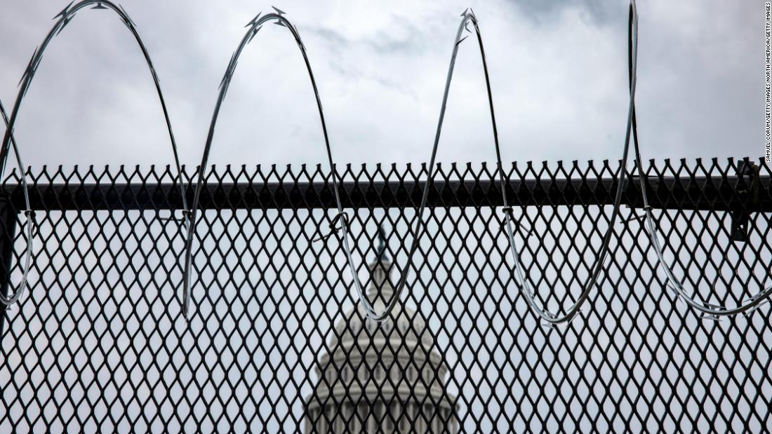 US Capitol Police ask to keep outer perimeter fence on Capitol grounds through joint session of Congress