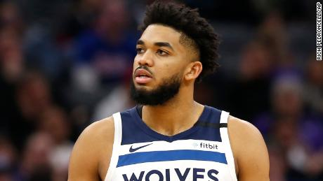 Minnesota Timberwolves' Karl-Anthony Towns says he tested posted for Covid-19 on Friday.