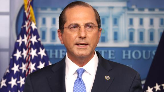 WASHINGTON, DC - NOVEMBER 20: United States Secretary of Health and Human Services Alex Azar speaks to the press in the James Brady Press Briefing Room at the White House on November 20, 2020 in Washington, DC.