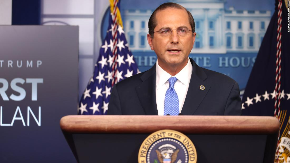 HHS Secretary Azar complains of tarnished legacy