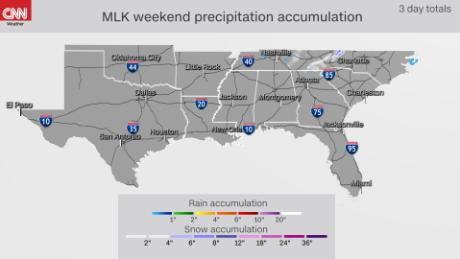 Holiday weekend rain and snow forecast for the southeast