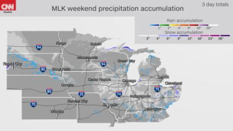 Holiday weekend rain and snow forecast for the midwest and plains