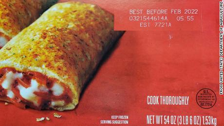 Recalled Hot Pockets have best by date of February 2022.