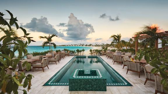 The pool at Anguilla's Cap Juluca, a Belmond Hotel.