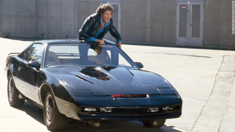 David Hasselhoff is auctioning off his personal K.I.T.T. car from the iconic 'Knight Rider' series