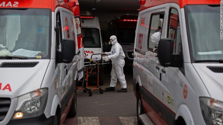 Um hospital em Manaus, no Estado do Amazonas, no mês passado.