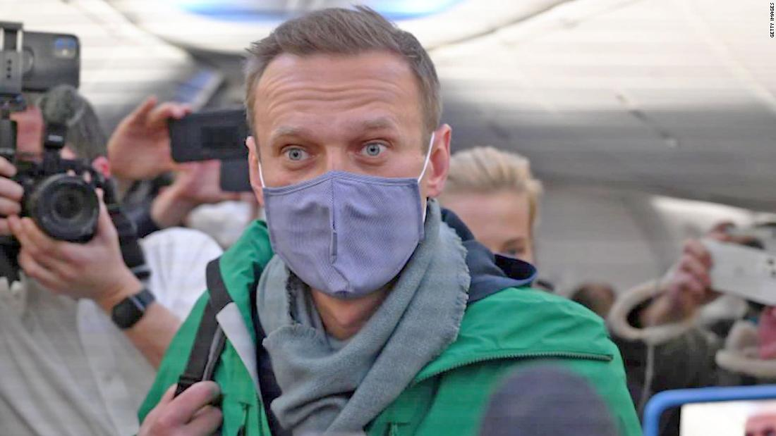Navalny arrested on his return to Moscow