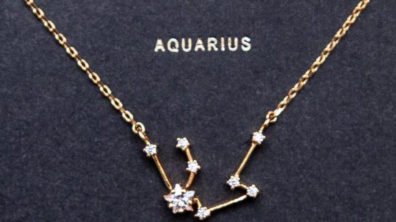 Brooklyn Tag Aquarius Sign Constellation Necklace