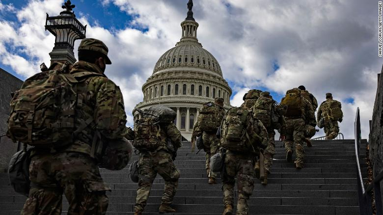 FBI vetting National Guard members involved in securing US Capitol