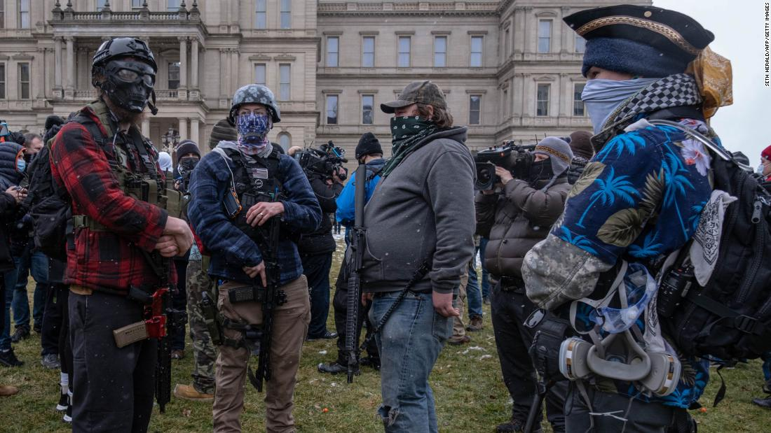 Expert has a warning as extremists gather outside Michigan Capitol