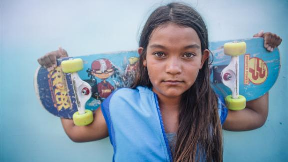 """Kekai, 12: """"I love the speed when I skate. I feel very alive and present. Feeling fluid and going fast is fun."""""""