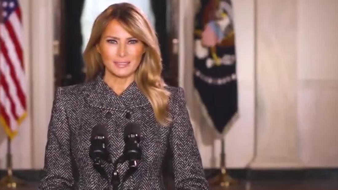 Melania Trump releases farewell message