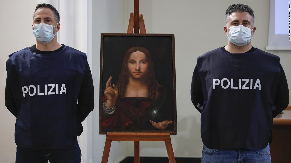 Police recover 500-year-old stolen copy of Leonardo da Vinci's 'Salvator Mundi'