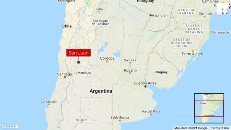 6.4 quake strikes Argentina's San Juan province, no tsunami warning issued