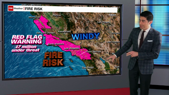 daily weather forecast california fire threat strong winds snow_00003520.png