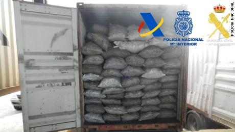 The drugs were hidden inside a container of charcoal sent from Paraguay.
