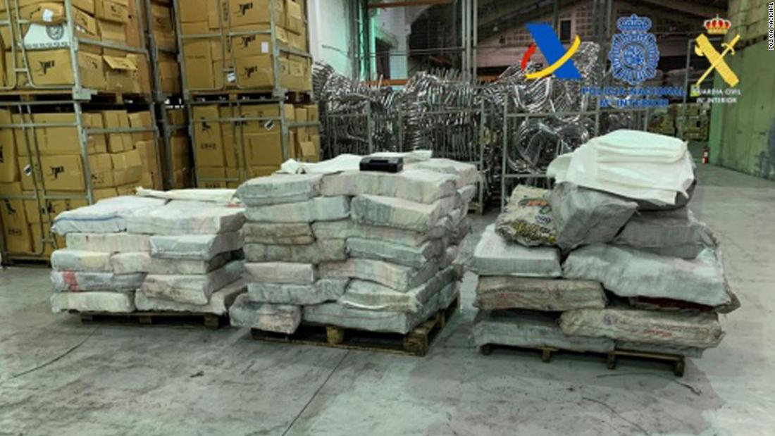 More than 2 tons of cocaine found hidden in charcoal