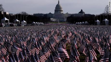 Stunning images from DC show flags representing crowds - CNN Video