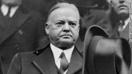 Herbert Hoover, seen here in January 1933, put aside some of his differences with his successor in order to ensure a peaceful transition of power.