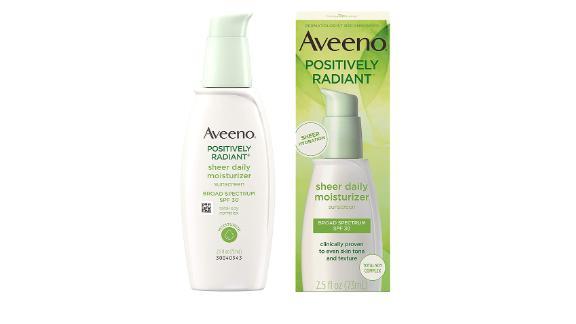 Aveeno Positively Radiant Sheer Daily Moisturizer SPF 30