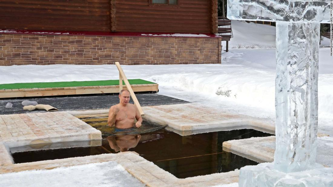 Russian President Vladimir Putin takes an icy dip to mark Epiphany 53