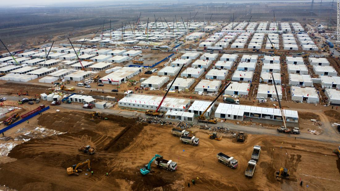 China builds massive Covid-19 quarantine camp for 4,000 people as outbreak continues thumbnail