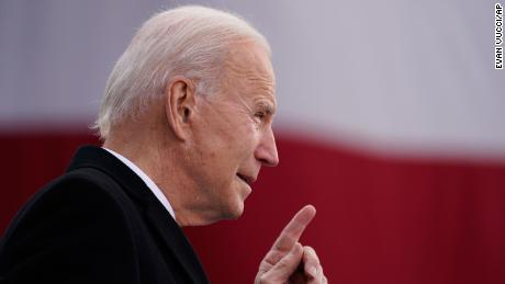 "President-elect Joe Biden speaks at the Major Joseph R. ""Beau"" Biden III National Guard/Reserve Center, Tuesday, Jan. 19, 2021, in New Castle, Del. It's a Twitter user's worst nightmare: Wake up to find most of your followers gone. But that's exactly what will happen on Wednesday, Jan. 20, 2021, to the official presidential accounts on Twitter. (AP Photo/Evan Vucci)"